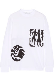 Toga Printed cotton-jersey top