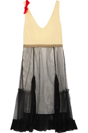 Toga Crepe, satin and tulle dress