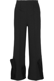 Toga Tulle-trimmed crepe flared pants