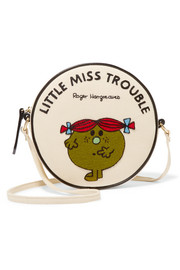 Olympia Le-Tan Little Miss Trouble appliquéd cotton-faille shoulder bag