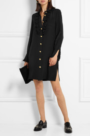 Paul & Joe Ruffle-trimmed silk shirt dress