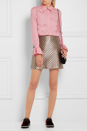 Paul & Joe Ealiette crystal-embellished cotton shirt