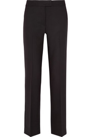 Stretch-wool piqué slim-leg pants