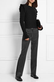 Paul & Joe Eploermel pinstriped stretch-twill straight-leg pants