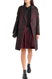 Houndstooth bouclé coat