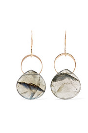Melissa Joy Manning 14-karat gold and labradorite earrings