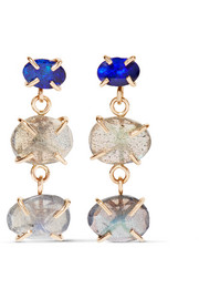 Melissa Joy Manning 14-karat gold, labradorite and opal earrings