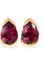 Bloom 18-karat rose gold, diamond and rubellite earrings