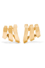 Stream Lines 18-karat gold earrings