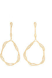 Fluid Trapeze 18-karat gold diamond earrings