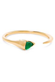 Fernando Jorge Sprout 18-karat gold, emerald and diamond ring