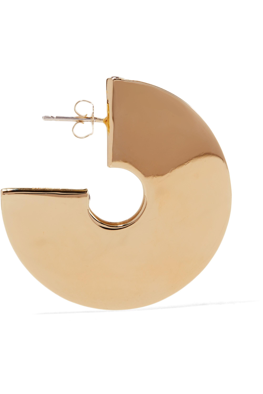 Elizabeth and James Mair gold-plated topaz hoop earrings