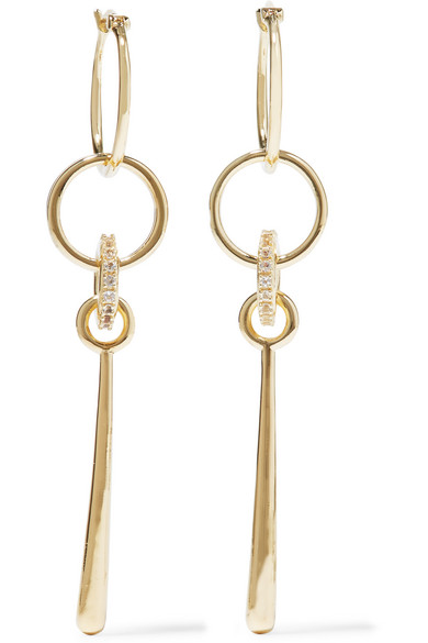 Elizabeth and James - Bonnie Gold-plated Crystal Earrings