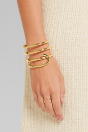 Gwen gold-plated topaz cuff