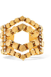Erickson Beamon Awaken gold-plated crystal cuff
