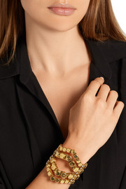 Awaken gold-plated crystal cuff