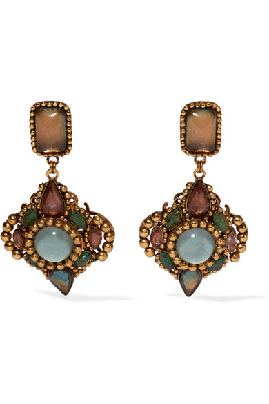 Erickson Beamon - Hunky Dory Gold-plated Crystal Earrings - Green