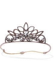 Erickson Beamon Princess rose gold-plated crystal headband