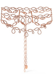 Princess rose gold-plated Swarovski crystal choker
