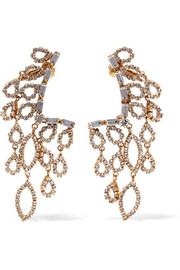 Princess gold-plated crystal earrings