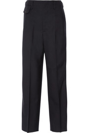 Erin striped wool wide-leg pants