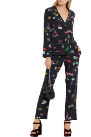Mira Mikati Printed silk crepe de chine shirt and pants