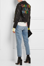Mira Mikati Dance All Night embellished leather biker jacket