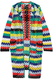 Mira Mikati Hooded crocheted merino wool cardigan