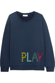 Mira Mikati Play eyelet-embellished cotton-jersey sweatshirt