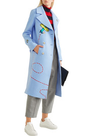 Fly Away Rocket appliquéd wool-blend coat