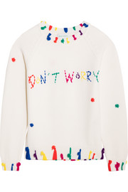 Mira Mikati Don't Worry tasseled merino wool sweater