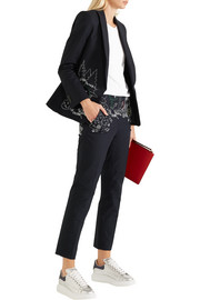 Dot to Dot embroidered cotton-blend twill blazer