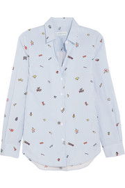 Mira Mikati Printed cotton-poplin shirt
