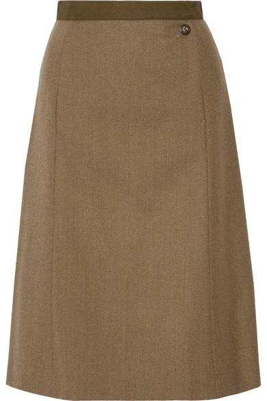 Maison Margiela - Wool-gabardine Skirt - Army green