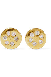 Lolli gold-plated diamond earrrings