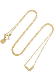 Glow gold-plated diamond necklace