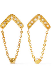 Glow gold-plated diamond earrings