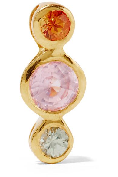 SCOSHA - Dusk Gold-plated Sapphire Earring