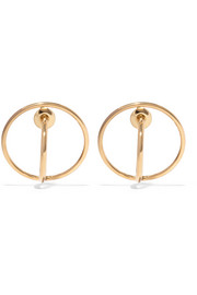 Saturn gold-plated earrings
