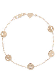 Happy/ Sad By The Yard 14-karat gold diamond bracelet