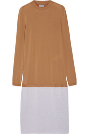 Loewe Layered wool-blend dress