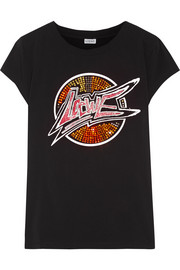 Loewe Embellished printed stretch-cotton jersey T-shirt