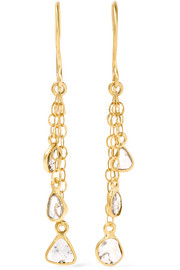 Pippa Small 18-karat gold diamond earrings