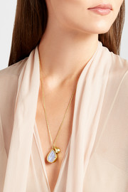 Pippa Small 18-karat gold moonstone necklace