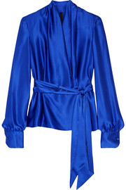 Silk-satin blouse