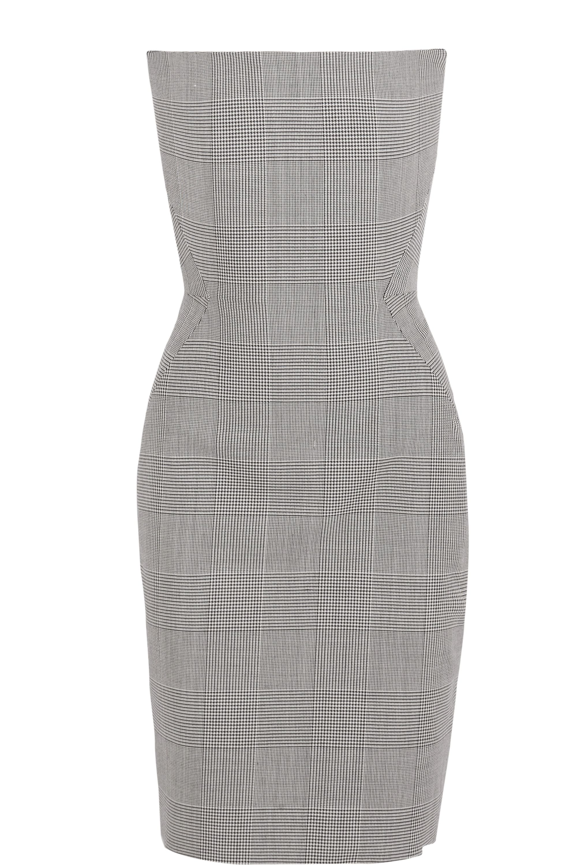 Gareth Pugh Prince of Wales checked wool dress