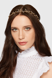 Orion gold-plated Swarovski crystal headband