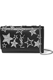 Monogramme Kate medium crystal-embellished leather shoulder bag