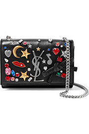 Saint Laurent Monogramme Kate small embellished textured-leather shoulder bag