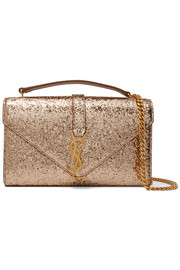 Saint Laurent Monogramme small glittered canvas shoulder bag